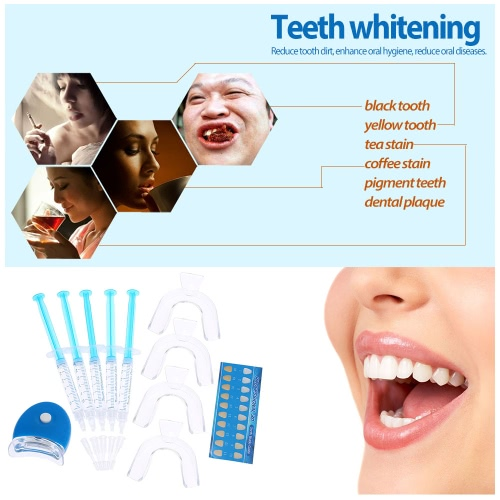 11pcs Teeth Whitening Set Dental Bleaching Tooth Whitener Whitening Gel 44% Peroxide Dental Trays Care Dental Equipment Home Kit Teeth Tools
