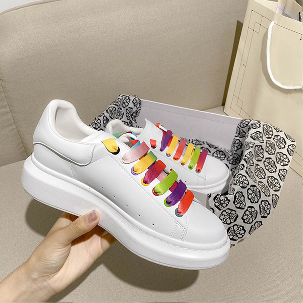 Comfort Casual Shoes Women Mens Daily Skateboarding Shoe Glitter Shinny Trendy Platform Walking Trainers rainbow shoes