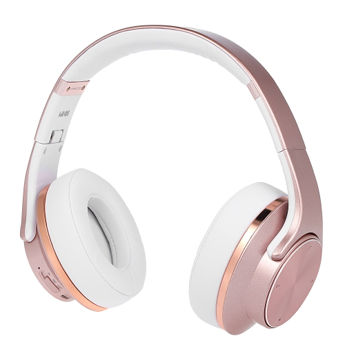 SODO MH5 2 in 1 BT Headphones with Microphone Rose Gold