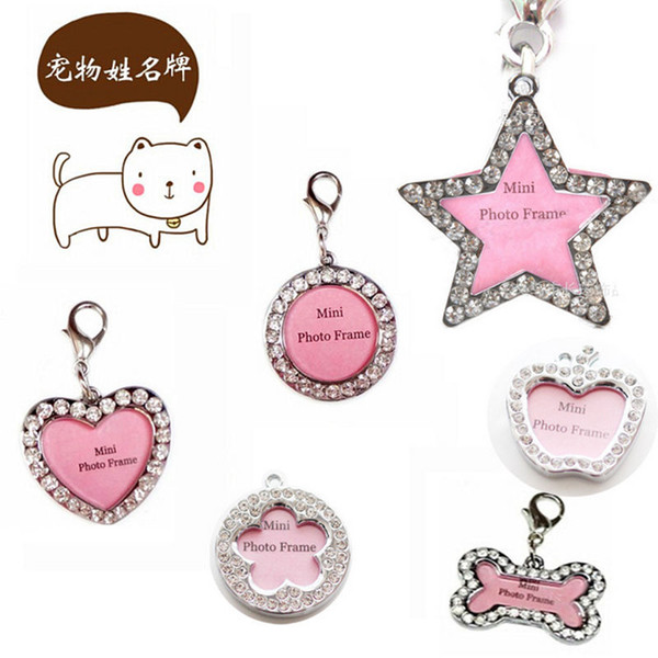 funny cute pet dog cat puppy tag zinc alloy tags name id tag personalized cute dog brand name for distinction