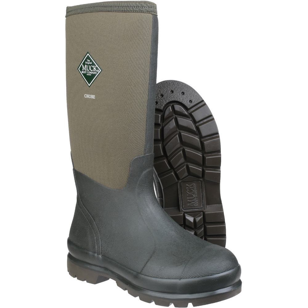Muck Boots Mens Chore Classic High Warm Breathable Wellington Boots UK Size 10 (EU 44/45, US 11)