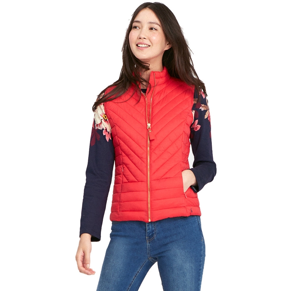 Joules Womens/Ladies Brindley Chevron Quilted Warm Bodywarmer Gilet 8 - Bust 32.5' (83cm)