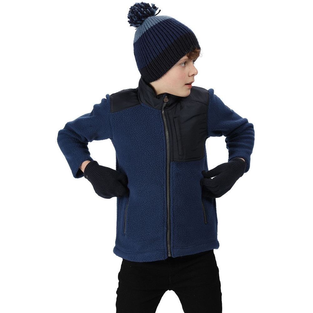 Regatta Boys Meyer High Pile Borg Walking Fleece Jacket 13 Years - Chest 79-83cm