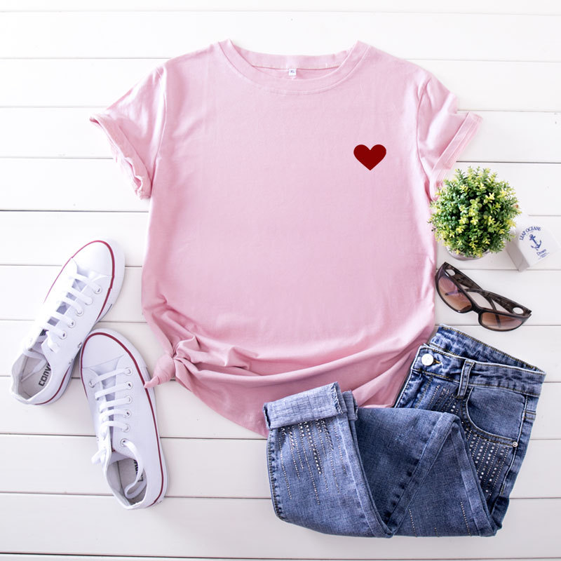 Casual Love Printed Tee For women