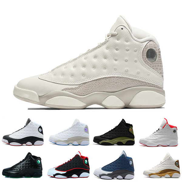 2016 jumpman 13 xiii men basketball shoes bred flints grey toe he got game hologram barons sport sneakers training shoes us 8-13