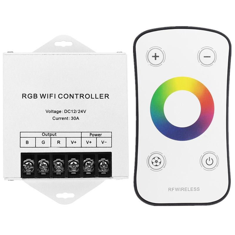 DC12/24V Wifi LED RGB Controller with Touch Remote Control for Strip Light