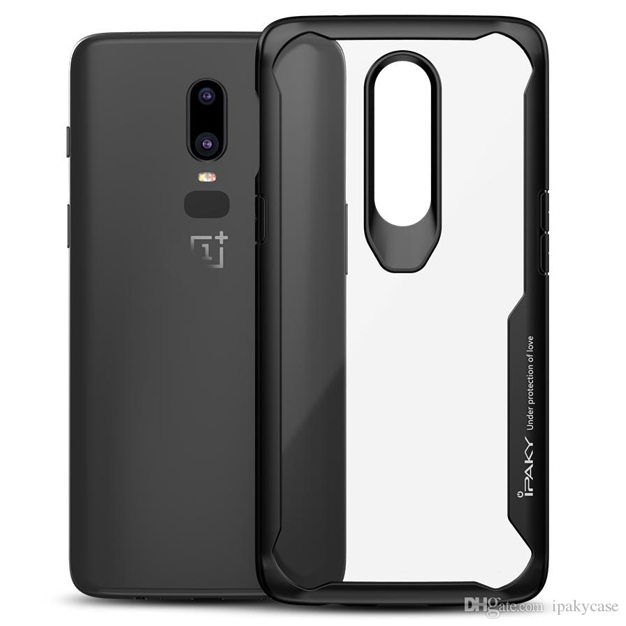 iPaky Oneplus 6 Transparent Case 1+6 Armor Drop-proof Shockproof Airbag Back Cover PC+TPU Oneplus Six Cases With Retail Package In Stock
