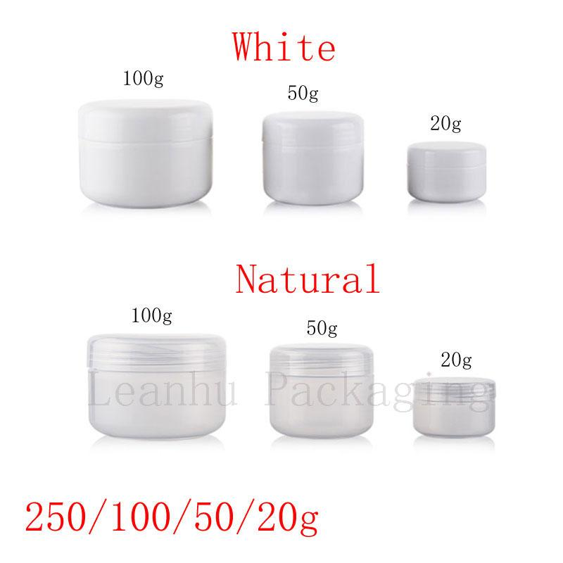 20g 50g 100g 250g empty skin care cream plastic container , cosmetic cream jars for personal care ,unguent bottles ,pot ,canning
