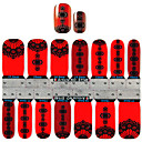 yemannvyou2x14pcs style chinois lanternes rouges autocollants nail art s1148