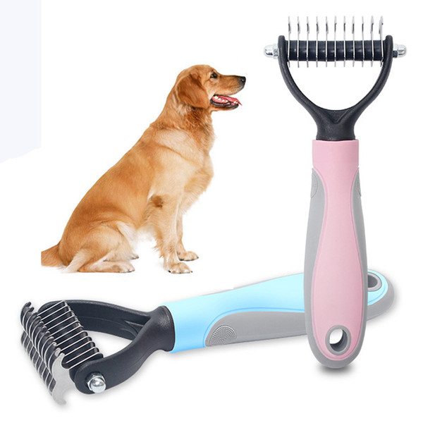 pet dogs hair removal comb cat dog fur trimming dematting deshedding brush pet grooming tool matted long hair curly comb bh2297 tqq