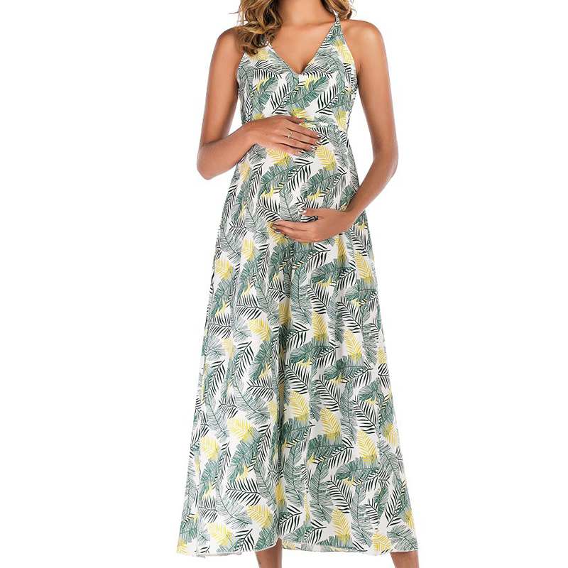 Sassy Printed Sleeveless Maternity Dress