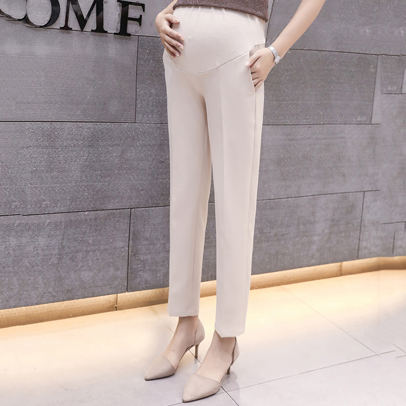 Sassy Solid Maternity Straight Pants