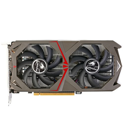 Colorful NVIDIA GeForce GTX 1050 GPU 2GB 128bit Gaming 2048M GDDR5 PCI-E X16 3.0 Video Graphics Card DVI+HD+DP Port with Two Cooling Fans