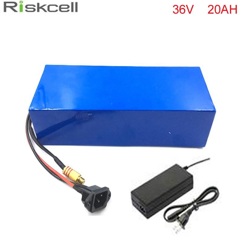 Free Shipping 1000w 36V 20Ah electric bicycle battery 36V 20A 500w with free 42V 2A charger 36v 20ah E-bike lithium battery