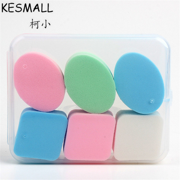 kesmall 6 pcs foundation bb cream makeup sponge beauty cosmetic puffs smooth powder puff facial make up sponges co418