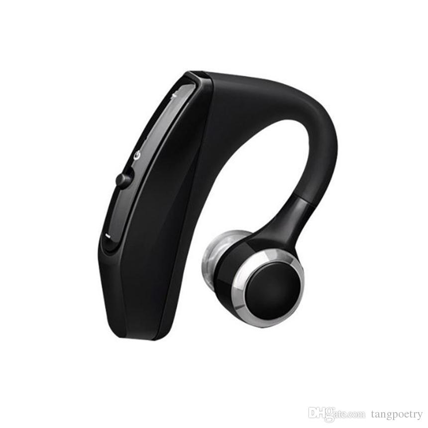 V12 Business Bluetooth Headset Wireless Handsfree Office Bluetooth Earphones Headphones with Mic Voice Control Noise Cancelling 1PC