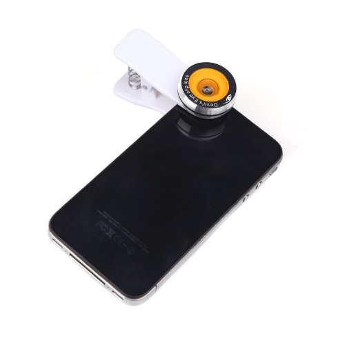 Devil's Eye Fish Eye Photo Lens Universal Clip for iPhone 5S 4 iPad Samsung S4 S3 Note 3 Note 2 LG HTC etc
