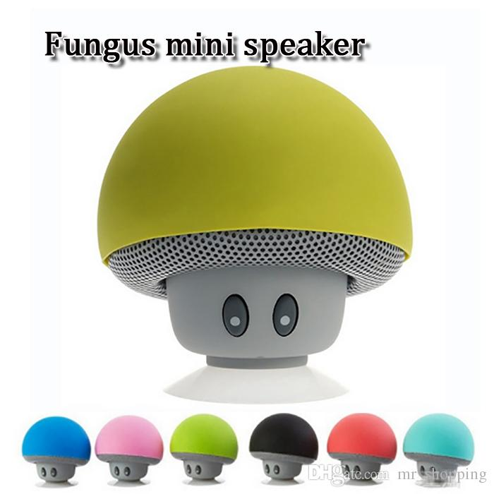 brand new colorful stereo bluetooth wireless portable fungus speaker with black white red gold four colors with retail box for sale