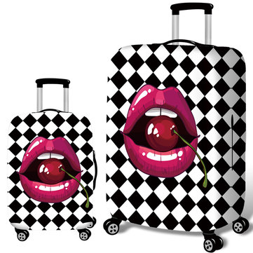 Cherry Lips Elastic Luggage Cover