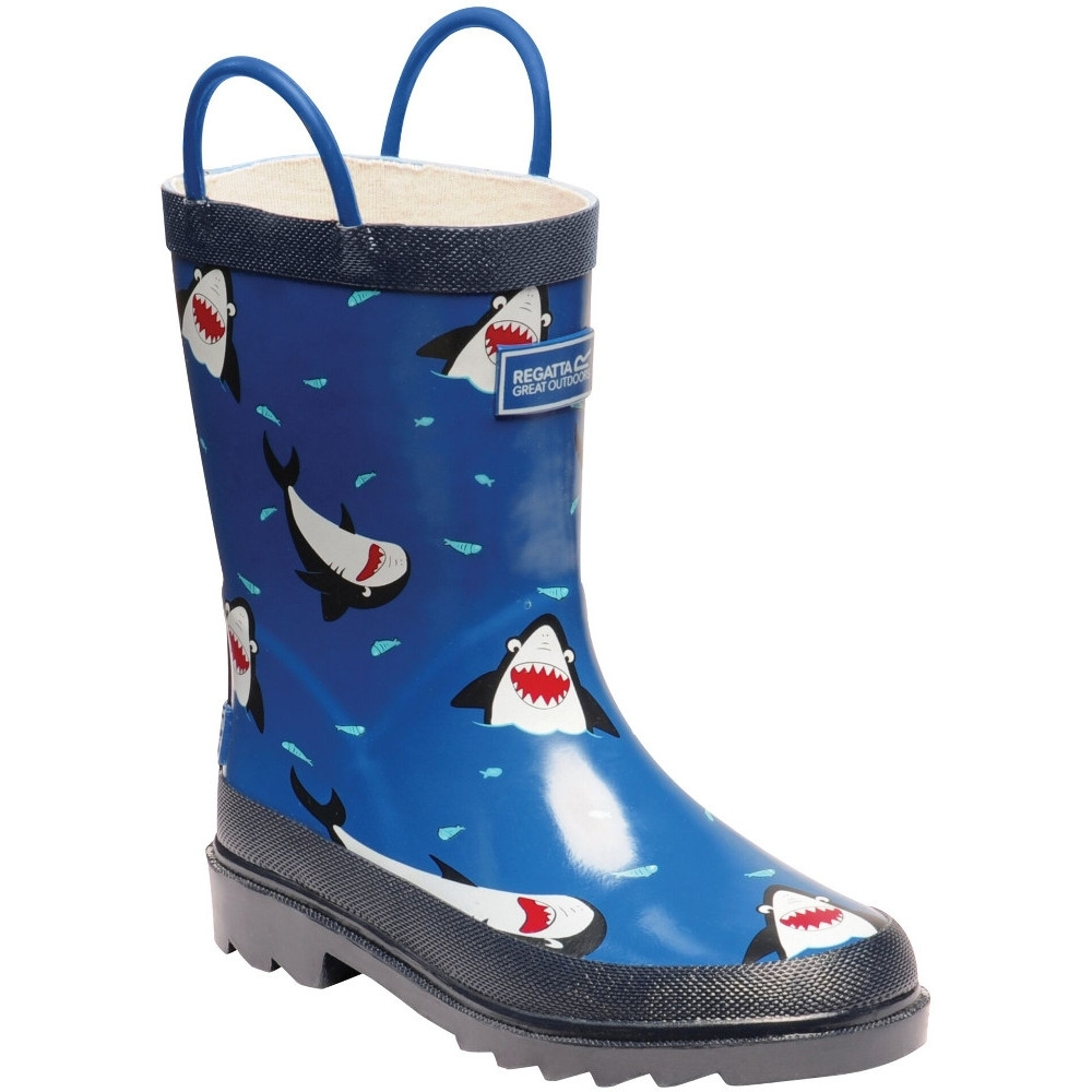 Regatta Boys Puddleduck Welly Printed Full Rubber Wellington Boots UK Size 5 (EU 38)