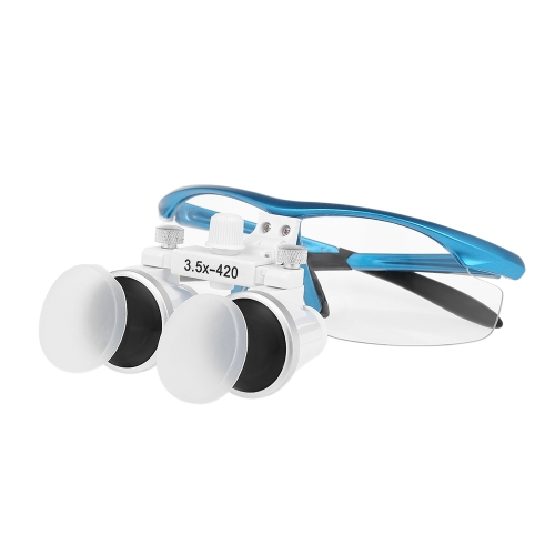 Dental Binocular Loupes 3.5X 420mm Dental Magnifier Optical Glass Dentists Surgical Loupes
