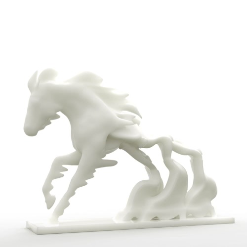 Horse Race Against Time Tomfeel?? 3D Printed Sculpture Home Decoration Horse Time