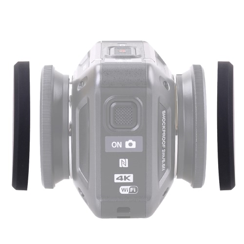 Silicone Protective Lens Cap and Underwater Diving Lens Cap for Nikon KeyMission 360 Camera