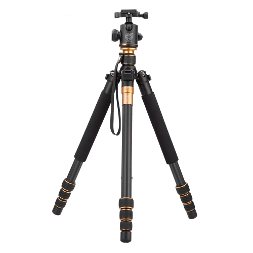 QZSD Q999C Pro Tripod Monopod Carbon Fiber Ball Head Portable Detachable Changeable Traveling for SLR Camera DSLR Camcorder