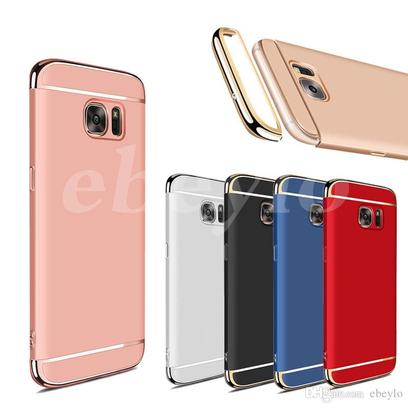Fashion Luxury Removable Hybrid 3 in 1 Electroplate Hard Plastic Case Electroplating Back Cover For Samsung S8 Plus S7 S6 Edge J7 2017