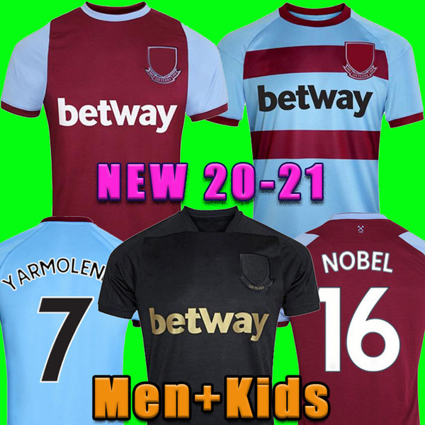 20 21 LINGARD WEST soccer jersey 2020 2021 NOBLE ANDERSON UNITED RICE NOBLE football shirt men + kids kit 125 years 125th Anniversary