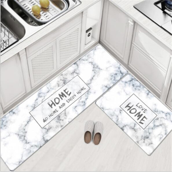 45x75cm+45x150cm soft pvc kitchen mats nordic style soft carpets for living room bedroom door mat floor rugs area rug
