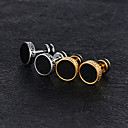 Men's Stud Earrings Magic Back Earring Vintage Style flat back Vintage Trendy Titanium Steel Platinum Plated Rose Gold Plated Earrings Jewelry Gold / Silver For Street 1 Pair