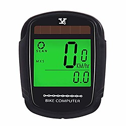 bike computer bicycle wireless wired speedometer and odometer waterproof backlight with digital lcd display for outdoor cycling and fitness multi function (wireless computer)