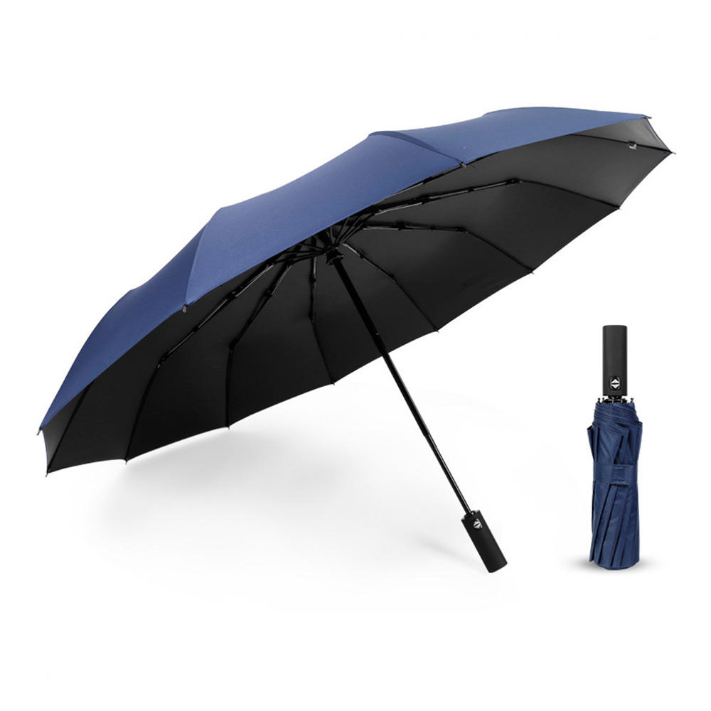 Xmund XD-HK13 Automatic Black Glue Umbrella Double Layer 1-2 People Folding Umbrella Portable Camping UPF50Waterproof