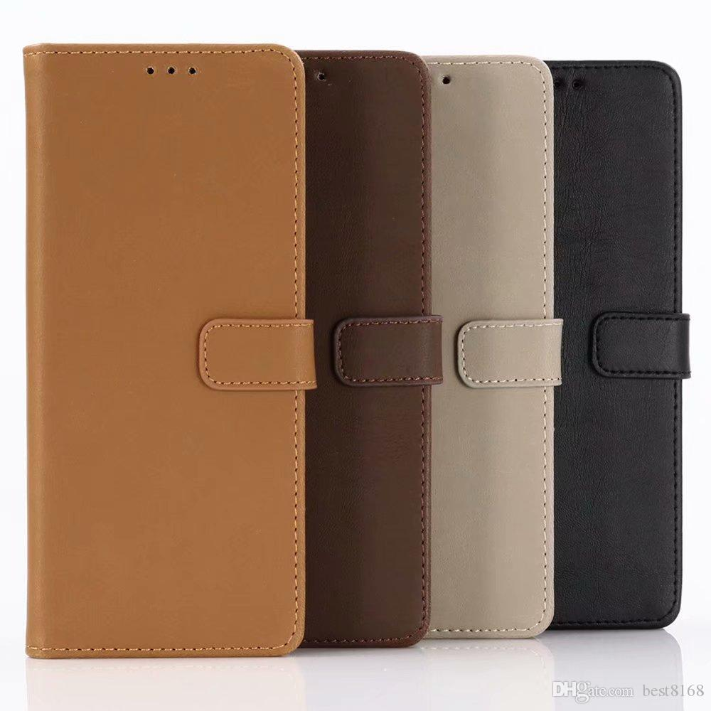 Retro Crazy Horse Leather Wallet Case For Sony Xperia 1 10 Plus PC PU Leather Cover ID Card Slot Stand Holder Ancient Vintage Old Pouch