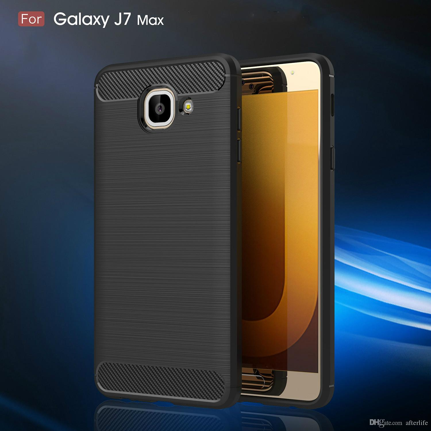 Fashion Luxury Phone case for Samsung J7 Max Case Silicon TPU Coque Hard soft tpu Anti-knock Back cover for Samsung Galaxy J7 Max