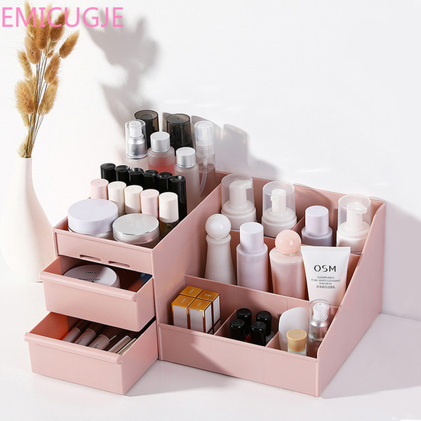 skin care rack house organizer container mobile phone sundries cosmetic storage box drawer desklastic makeup dressing table