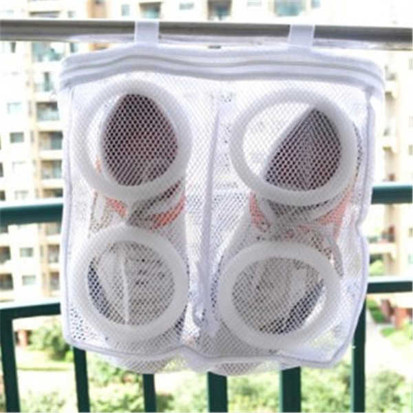 1PC Portable Foldable Breathable Mesh Sneaker Tennis Boots Shoes Hanging Washing Bag Dry Bag