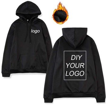 Drop Shipping custom logo Print Hoodies Unisex Wholesale DIY Sweatshirts warm Pullover hoodies solf Cotton and polyester no ball