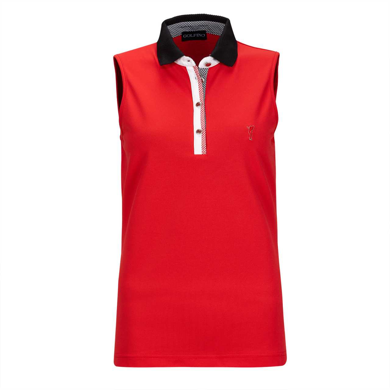 Golfino Vichy Sleeveless Polo Damen rot