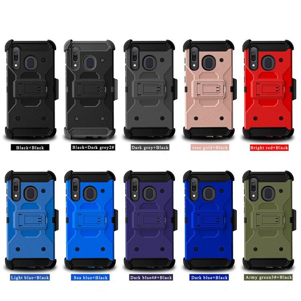 for lg stylo 6 k51 hybrid heavy+duty rugged defender holster clip protective robot cover for samsung galaxy a01 a11 phone case d1