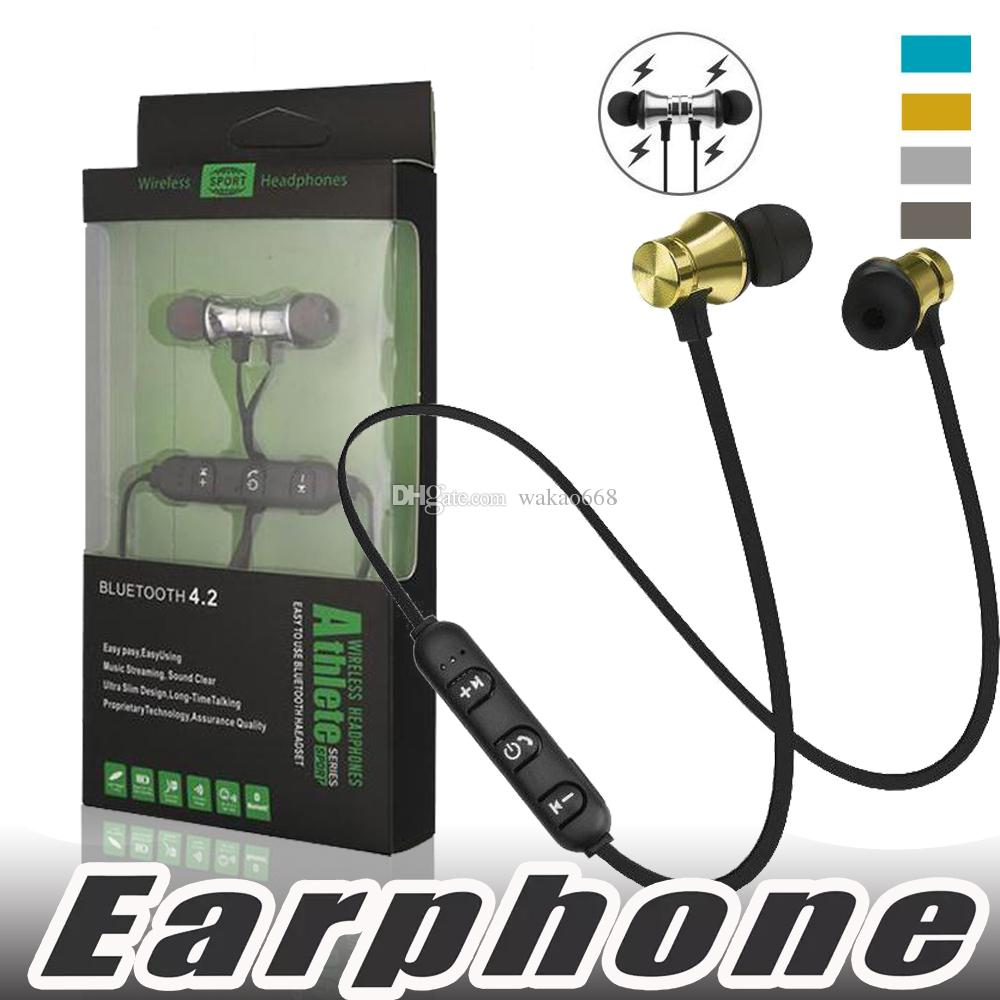 XT11 Wireless Bluetooth Earphones Sports In-Ear BT 4.2 Stereo Magnetic Headset Earbud Headphones with Mic For iPhone Samsung With Package