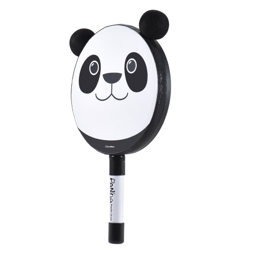 6in Panda Tambourine Percussion Musical Instrument Toy Gift with Mallet for Baby Kids Children