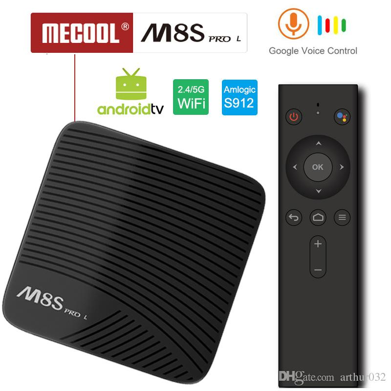 Google Voice Control Android TV Box Mecool M8S Pro L S912 Octa Core 3GB RAM Run Fast Youtube 4K Streaming Media Player