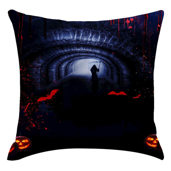 halloween ghost witch pumpkin pillowcases seat sofa pillow cover linen square horror cushion cover for home decoration hh4