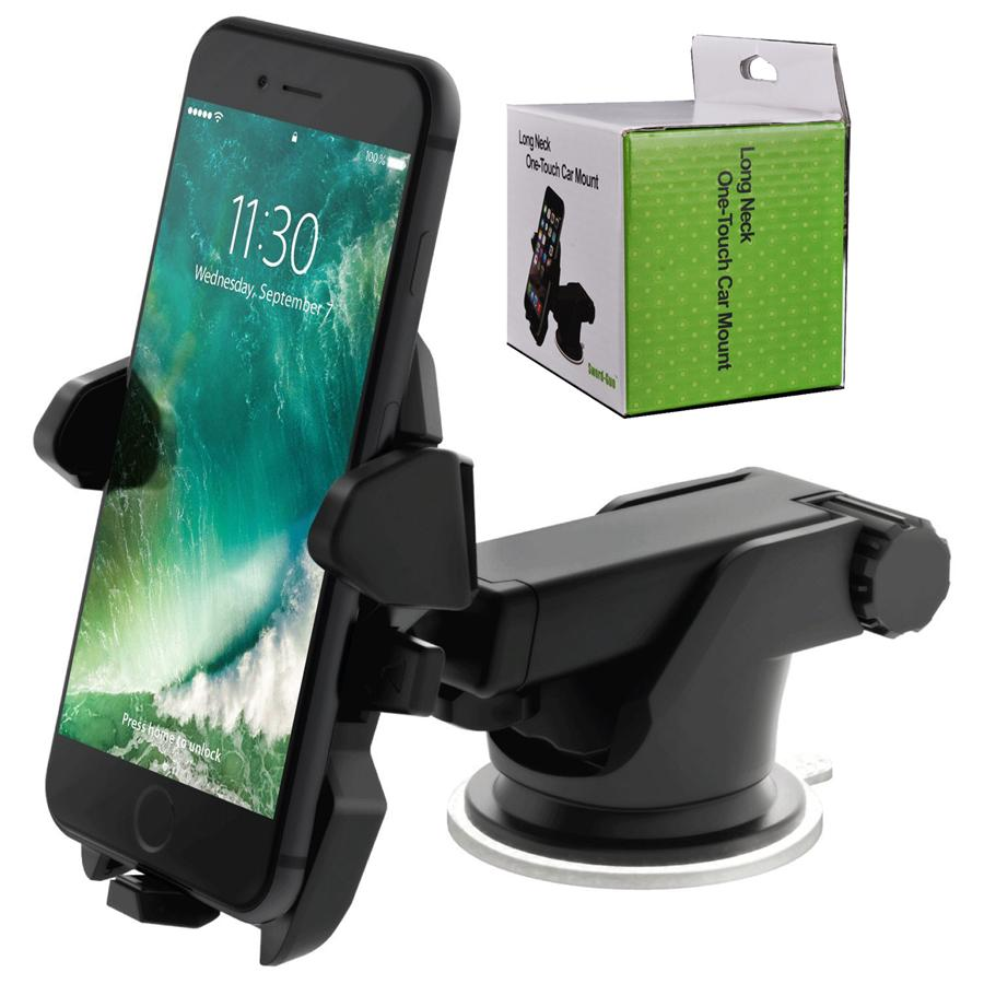 New Long Neck One Touch Car Mount Holder Suction Cup For Mobile Phone iPhone 7 6s Plus 5s Samsung Galaxy S8 Note 5
