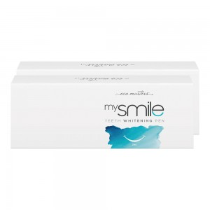 mysmile Teeth Whitening Pen - Natural Whitening Formula - 1 x 2ml Teeth Whitening Gel Pen - 2 Pack