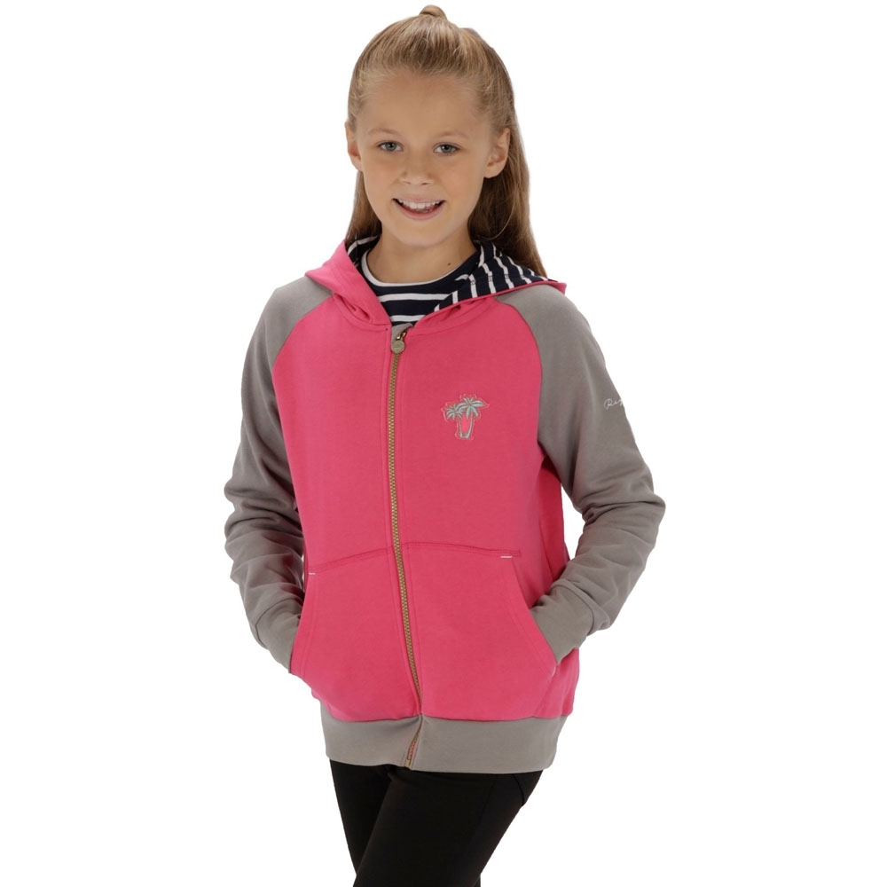 Regatta Boys & Girls Tetra Polycotton Full Zip Hooded Fleece Jacket 9-10 Years - Chest 69-73cm (Height 135-140cm)