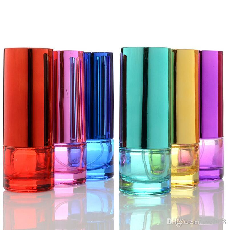 20 ML Pillar Colorful Glass Spray Perfume Bottles Atomizer Empty Refillable Perfume Glass Bottle For Women LX1211