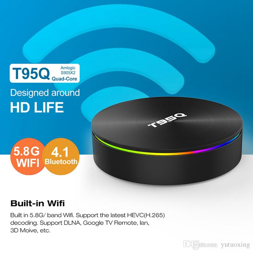 Android 8.1 TV BOX T95Q S905X2 Quad Core 4gb 32gb 2.4g 5.8g Dual Wifi BT Support 3D Media Player